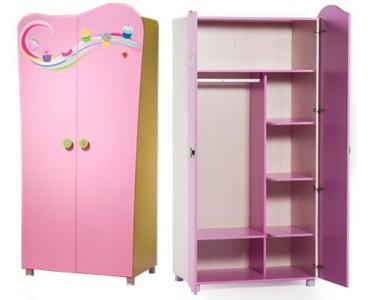 Распашной шкаф для детской из дсп модель 11777