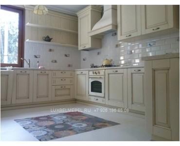 Кухня из массива в стиле прованс модель 033