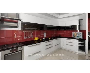 Кухня в стиле хай-тек модель 045