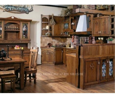 П-образная кухня из массива модель 020 заказать в Москве