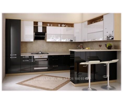 Угловая кухня с фасадами из пластика модель 031 заказать в Москве