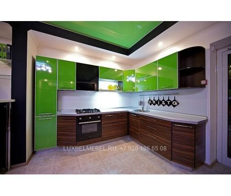 Кухня с пластиковыми фасадами в стиле хай-тек модель 042 на заказ в Москве