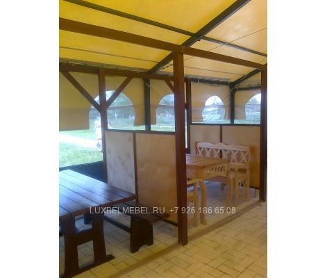 Набор стол скамья из массива 0030