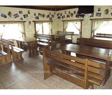 Набор стол скамья из массива 0034