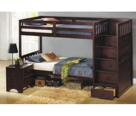 Детская кровать из массива модель 2918